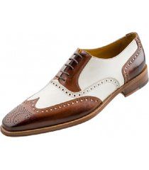 new men spectator shoes, men brogue wingtip brown and white formal dress shoes