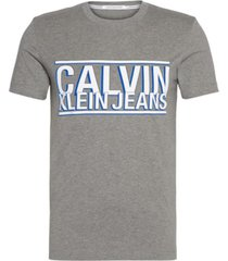 camiseta slim con logo calvin klein