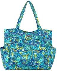 bolsa tote-shopper matelassê ombro  espaçosa casual azul