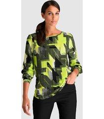 blouse alba moda groen::zwart