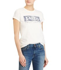 polera mujer logo jersey graphic blanco polo