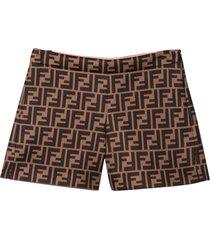 fendi brown shorts