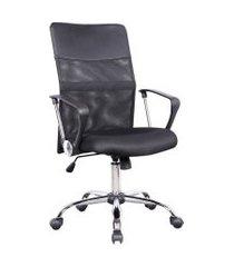 cadeira de escritório diretor giratória vancouver com braços preta