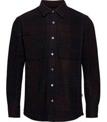 wool check sapp overhemd business zwart mads nørgaard