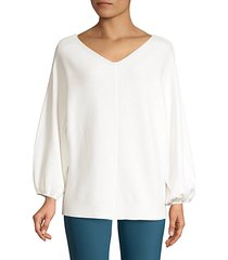 wide v-neck dolman sweater