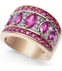 certified ruby (2-1/2 ct. t.w.) & diamond (1/4 ct. t.w.) statement ring in 14k gold