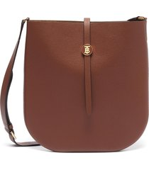'besace' monogram clasp leather crossbody bag