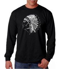 la pop art men's word art long sleeve t-shirt