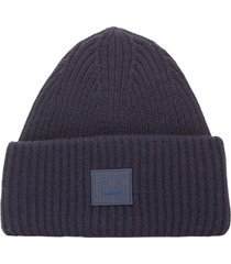 ribbed face beanie
