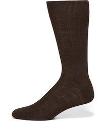 wide ribbed merino wool dress socks