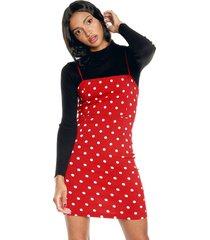 vestido rojo-negro active