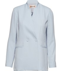 manua blazer colbert blauw custommade