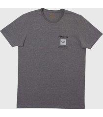 camiseta box out rvca - cinza - masculino - dafiti