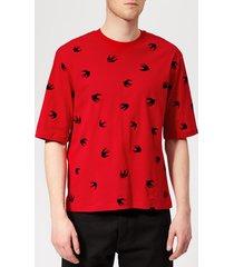 mcq alexander mcqueen men's mini swallow t-shirt - cadillac red - xs - red