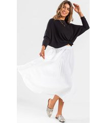 becah pleated maxi skirt - ivory