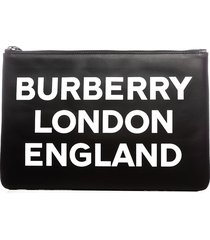 burberry burberry logo print pouch