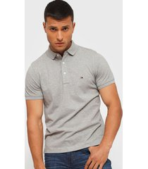 polera tommy hilfiger tommy slim polo gris - calce slim fit