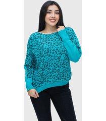 sweater spandex brillante celeste enigmática boutique