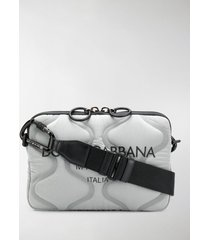dolce & gabbana padded zip-up shoulder bag