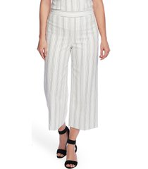 vince camuto fine stripe wide leg crop pants, size 16 in new ivory at nordstrom