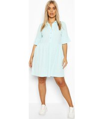 plus shirt smock dress, mint