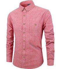 cotone da uomo camicia
