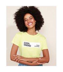 "blusa de moletinho feminina cool trend"" manga curta decote redondo verde"""