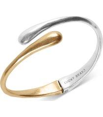 lucky brand two-tone bypass bracelet