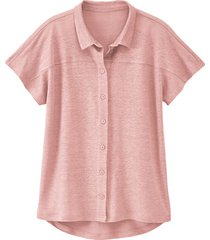 linnen-jersey blouse, mauve 40/42
