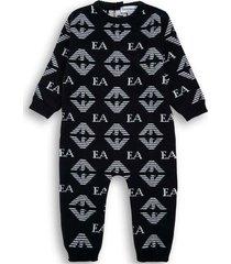 onesie with allover logo print