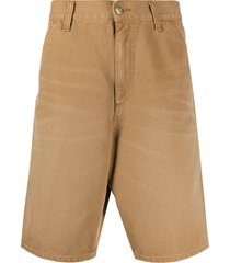 carhartt wip wide-leg cargo shorts - brown