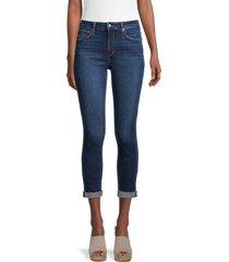 joe's jeans women's curvy high-rise skinny crop jean - durham - size 24 (0)