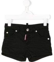 dsquared2 kids lightweight hot pants - black