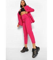 getailleerde toelopende broek, hot pink
