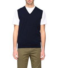 paolo pecora suit vest paolo pecora v-neck vest in basic cotton