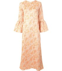 bambah camelia kaftan dress - orange