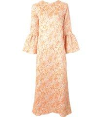 bambah camelia kaftan dress - orange