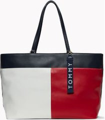 tommy hilfiger women's colorblock tote bag navy/red/white -