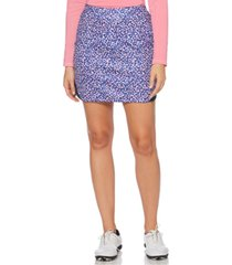 pga tour kaleidoscope printed golf skort