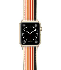 casetify retro saffiano faux leather apple watch strap