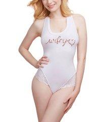 """dreamgirl soft spandex jersey """"wifey"""" bodysuit"""