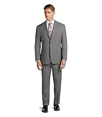 1905 collection tailored fit glen plaid men's suit with brrr°® comfort - big & tall clearance by jos. a. bank