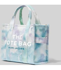 marc jacobs women's the tie dye mini tote bag - blue multi