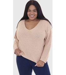 sweater brave soul beige - calce regular
