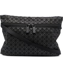 bao bao issey miyake geometric-panelled clutch bag - black