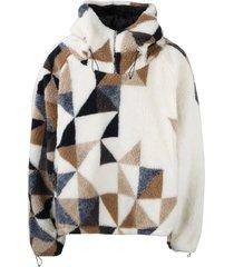 fourtwofour on fairfax teddy hoodie jacket