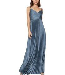 bcbgmaxazria pleated satin gown