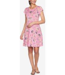 ruby rd. plus size drs dot persian puff dress