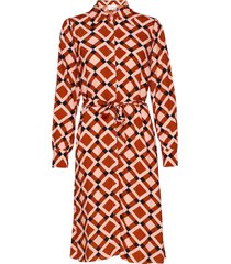 grama dress jurk knielengte oranje second female