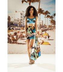 mini-skirt south beach - blue - l
